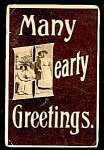 Click here to enlarge image and see more about item 3883: 1909 HEARTY GREETINGS, COUPLES