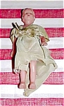 Click here to enlarge image and see more about item 3937: 1940s era Hard Plastic Doll, Moving Arms