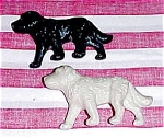 Click here to enlarge image and see more about item 3940: Matching Pair of Dog Figures, 1950s era