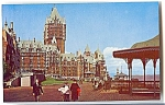 Click here to enlarge image and see more about item 4133: Chateau Frontenac, Quebec, Canada, 1950s Postcard