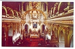 Click here to enlarge image and see more about item 4138: Interior of the Basilica, Quebec Canada 1950s Postcard