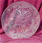 Click here to enlarge image and see more about item 4153: Large Decorated Glass Christmas Tray