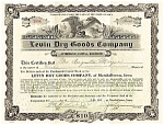 Click here to enlarge image and see more about item 4444: Levin Dry Goods Stock Certificate