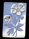 Click here to enlarge image and see more about item 4492: Playing Cards � Blue Flowers