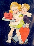 Click here to enlarge image and see more about item 4661: More Cute Kids – 1920s Valentine