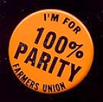 Click here to enlarge image and see more about item 4883: FARMER'S UNION 100% Parity Button