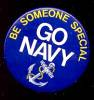 Click here to enlarge image and see more about item 4886: GO NAVY Recruitment Button