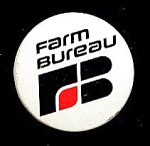 Click here to enlarge image and see more about item 4889: FARM BUREAU Logo Button