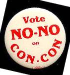 Click here to enlarge image and see more about item 4892: Vote NO-NO on CON-CON Button