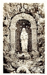 IOWA: Grotto Statue, West Bend, Real Photo