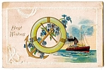 Click here to enlarge image and see more about item 5056: Ship, Anchor, Forget-me-nots