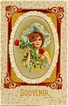 1913 Pretty Little Girl, Nice Hat, Roses!
