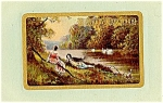 Click here to enlarge image and see more about item 5067: Idyllic Happy Birthday Scene
