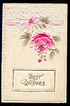 Click here to enlarge image and see more about item 5105: Lovely Padded Best Wishes Rose, Lace