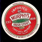 Click here to enlarge image and see more about item 5195: MURPHY�S IRISH STOUT Round Coaster