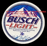 Round BUSCH LIGHT Beer Coaster