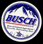 Click here to enlarge image and see more about item 5199: Round BUSCH Beer Coaster