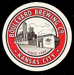 Click here to enlarge image and see more about item 5203: KC BOULEVARD Brewing Coaster