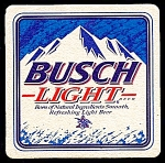Square BUSCH, BUSCH LIGHT Coaster
