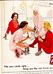 Click here to enlarge image and see more about item 5514: 1961 7up The Real Thirst-Quencher! Card-Pajama Party!
