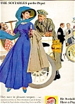 Click here to enlarge image and see more about item 5517: 1961 Sociables Prefer Pepsi, Great Old Cars and Clothes!