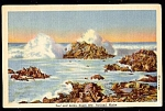Click here to enlarge image and see more about item 5552: MAINE: Surf, Rocks at Casco Bay at Portland