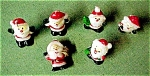 Click here to enlarge image and see more about item 5594: Set of 6 Mini Santa Candles