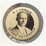 Click here to enlarge image and see more about item 5713: Hardin � Grand Patriarch � Button