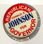 Donald Johnson, IA Governor Campaign Button, 1968