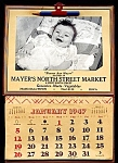 Click here to enlarge image and see more about item 6052: 1947 FIRST Mayer's Market Ad Calendar