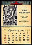 Click here to enlarge image and see more about item 6053: 1950 Mayer�s Market Ad Calendar