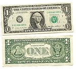 1985 Series $1 U.S. Fed Reserve Note, Hard-to-Find!