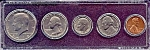 Click here to enlarge image and see more about item 6332: 1974 5-Coin Set in Plastic Holder
