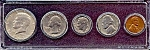 Click here to enlarge image and see more about item 6335: 1967 5-Coin Set in Plastic Holder