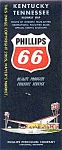 Phillips 66 Highway Map:  KENTUCKY, TENNESSEE