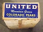 Smaller United Colorado Peaches Crate
