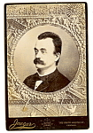 Click here to enlarge image and see more about item 6606: Vintage Cabinet Photo: Distinguished Gent, Mustache, Chicago