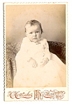 Click here to enlarge image and see more about item 6608: Vintage Cabinet Photo: Sad-Looking Baby, Manitowoc