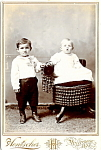 Click here to enlarge image and see more about item 6612: Vintage Cabinet Photo: Two Formally-Dressed Children, Wisconsin