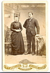 Vintage Cabinet Photo: Formal Portrait, Minnesota Couple