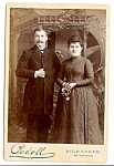 Cabinet Photo:  Well-Dressed Young Couple