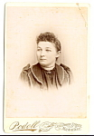 Click here to enlarge image and see more about item 6616: Vintage Cabinet Photo: Pretty Young Woman, Brooch, Milwaukee