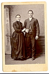 Vintage Cabinet Photo: Young Couple, Watch Fob, Chains, Wisconsin