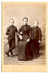 Click here to enlarge image and see more about item 6622: Vintage Cabinet Photo: Mother, Sons, Great Pose!  Manitowoc
