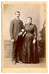 Click here to enlarge image and see more about item 6623: Vintage Cabinet Photo: Handsome Well-Dressed Couple, Wisconsin