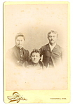 Cabinet Photo: Three Young Adults