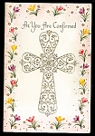 Click here to enlarge image and see more about item 9069: Lovely Confirmation Day Cross, Unused Greeting Card