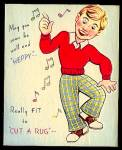 Be 'Heppy,' Fit to 'Cut a Rug' WWII era Greeting Card, JIVIN' JITTERBUG, Marchant