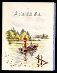 Click here to enlarge image and see more about item 9085: Fishin� Boat, Get Well Wish