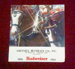 Click here to enlarge image and see more about item Bud1984: 1984 Bud Clydesdale Calendar; Breed History, Care, Parades
